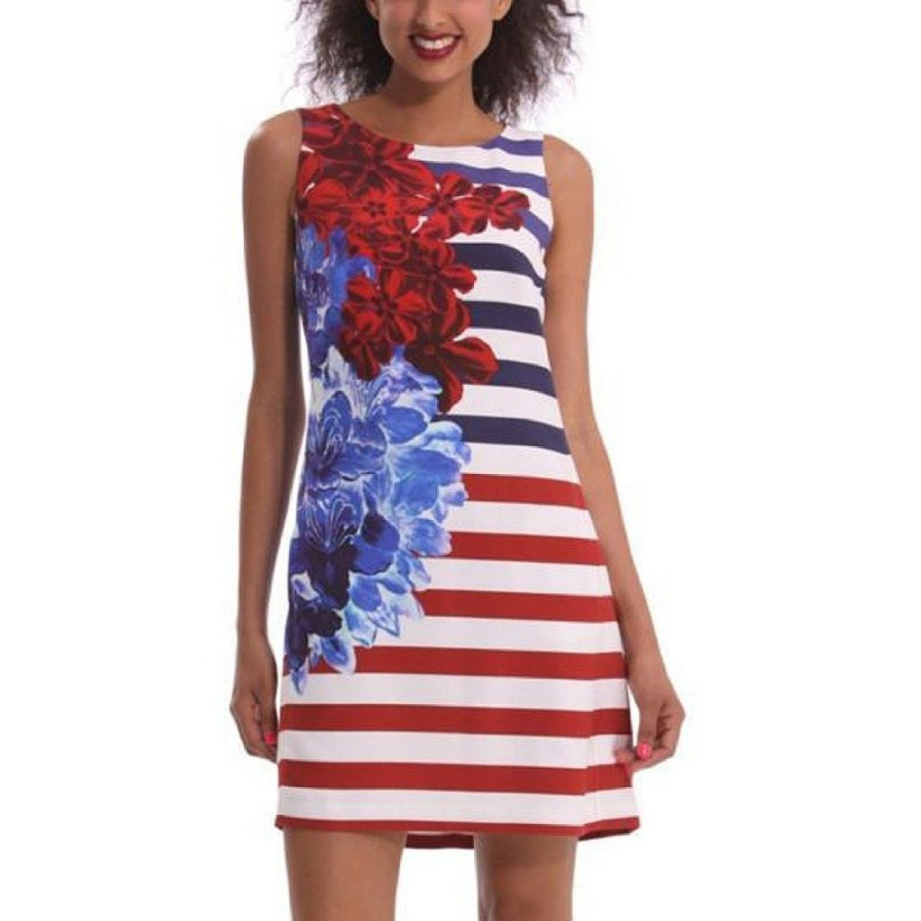 Modest Fourth of July Outfit Ideas - American Flag Maxi Dresses