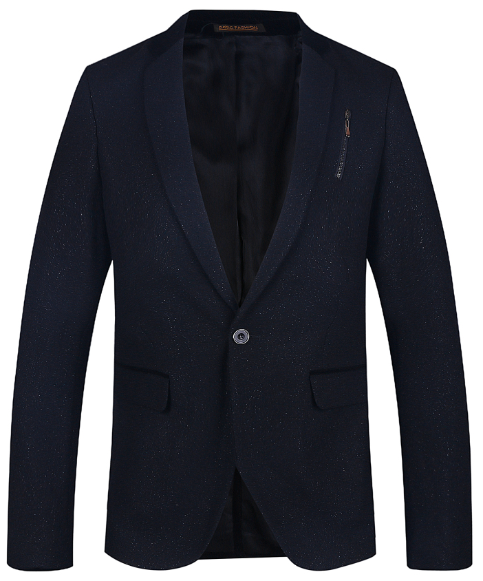 Navy Blue Casual Blazer